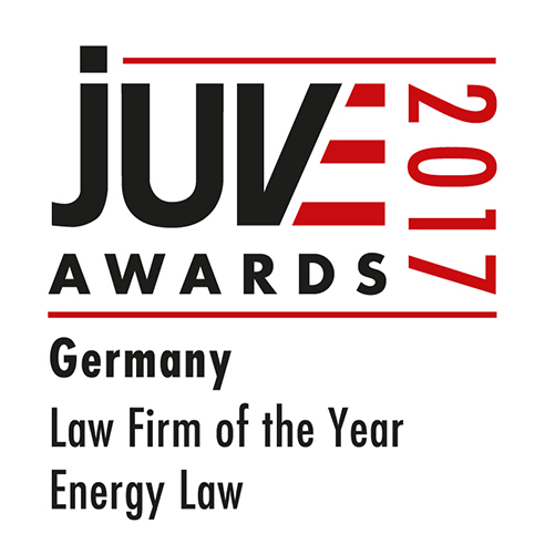 Law firm of the year for energy law, JUVE awards 2017