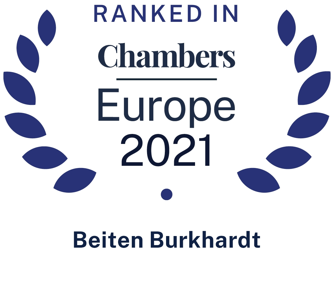 Ranked in Chambers Europe 2021