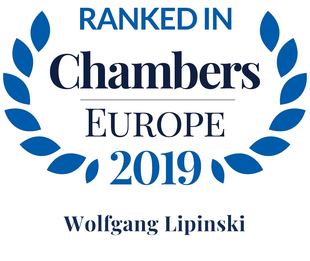Wolfgang Lipinski, Recommeded Lawyer by Chambers Europe 2019