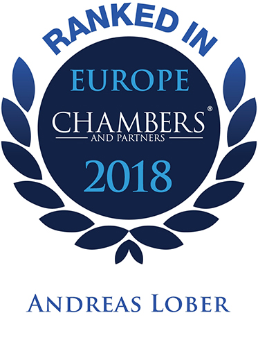 Dr. Andreas Lober, Empfohlener Anwalt durch Chambers Europe 2018