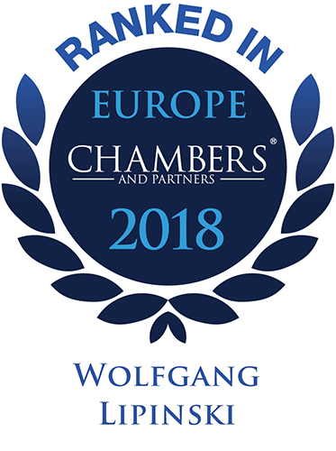 Wolfgang Lipinski, Recommeded Lawyer by Chambers Europe 2018