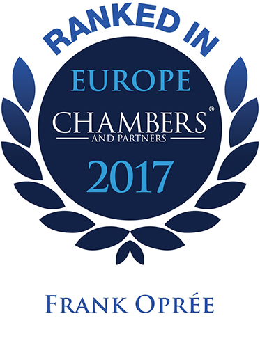 Recommeded Lawyer by Chambers Europe 2017