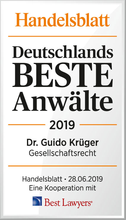 Recommeded by Handeslblatt & Best Lawyer, 2019