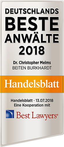 Recommended Lawyer by Handelsblatt und Best Lawyer 2018
