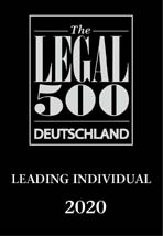 Wolfgang Lipinski, Leading Individual by Legal 500 Deutschland 2020