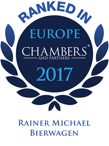 Rainer Bierwagen ranked in Chambers Europe 2017