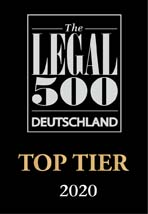 Legal 500 Deutschland Top Tier 2020 Games