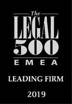Legal 500 EMEA Leading Firm 2019