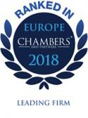Ranked in Chambers Europe2018