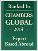 Ranked in Chambers Global2014, Expert based abroad