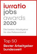 iurratio jobs awards 2020